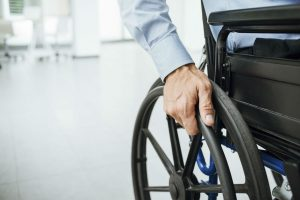 man in wheel chair
