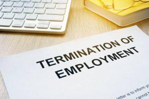 termination of employment after work injury