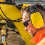 missouri worker wearing ear protection