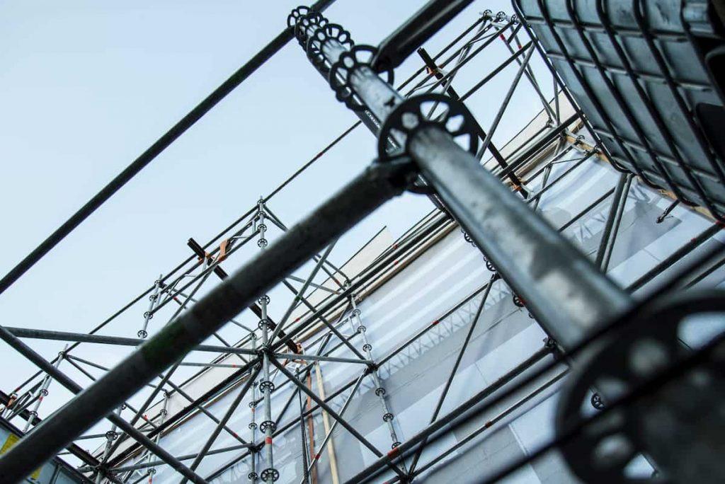 scaffolding set up at a missouri construction site